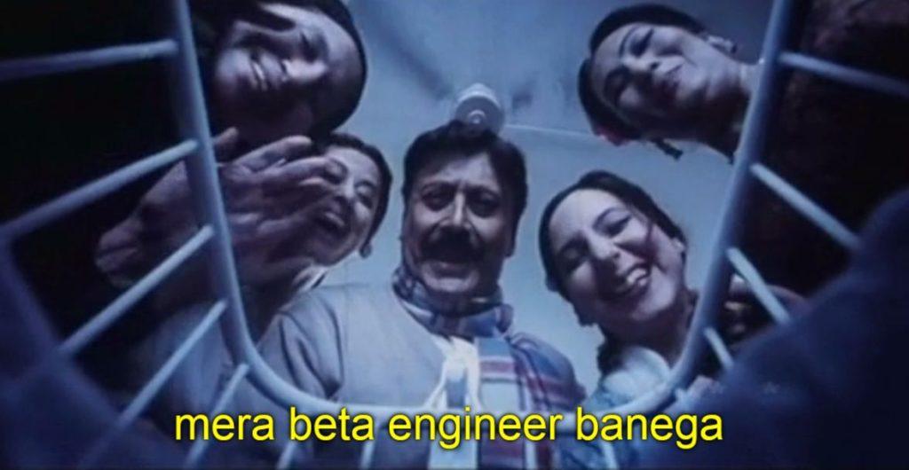 Mera beta engineer banega 3 idiots dialogue and meme template