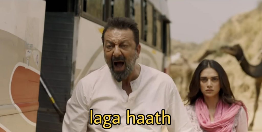 laga haath Sanjay Dutt dialogue in the movie bhoomi