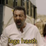 laga haath Sanjay Dutt dialogue in the movie bhoomi