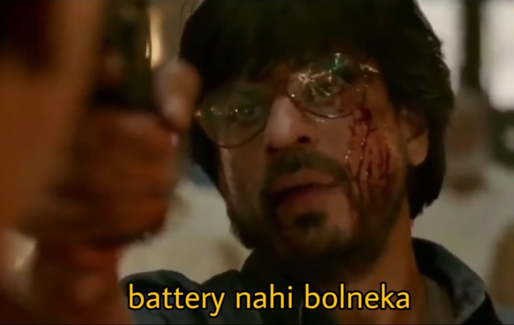 Shahrukh Khan Raees Dialogue Battery nahi bolneka Pointing a gun