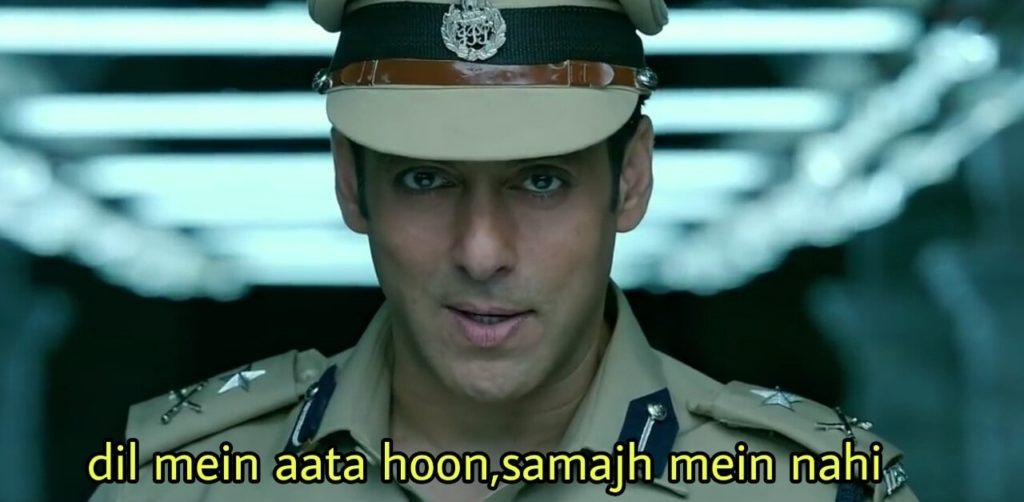 Dil mein aata hoon samajh mein nahi salman khan kick dialogue