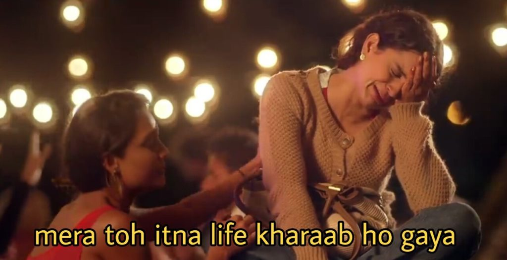 Mera toh itna life kharaab ho gaya Kangana Ranaut queen meme template