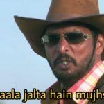 saala jalta hain mujhse welcome movie dialogue by Nana Patekar as Uday Shetty