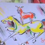 welcome movie majnu bhais painting