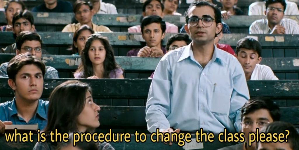 what is the procedure to change the class please munnabhai mbbs meme