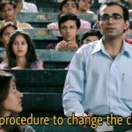 what is the procedure to change the class please munnabhai mbbs meme
