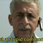 I am just a stupid common man Naseeruddin Shah in A wednesday movie dialogue