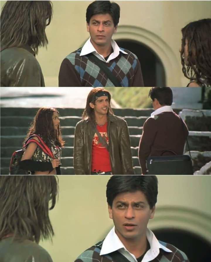 Shah Rukh Khan famous dialogue main hoon na Sabki nahi hoti laxman meme template