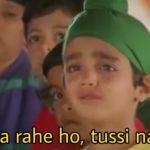 Little Kid crying Parzan Dastur Kuch Kuch Hota Hai movie dialogue tussi jaa rahe ho tussi naa jao