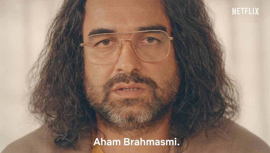 Pankaj Tripathi as Guruji in Sacred Games Season 2 dialogue and meme template Aham Brahmasmi