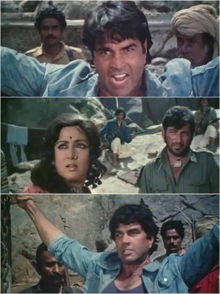 Basanti in kutto ke samne mat nachna Sholay Dharmendra meme