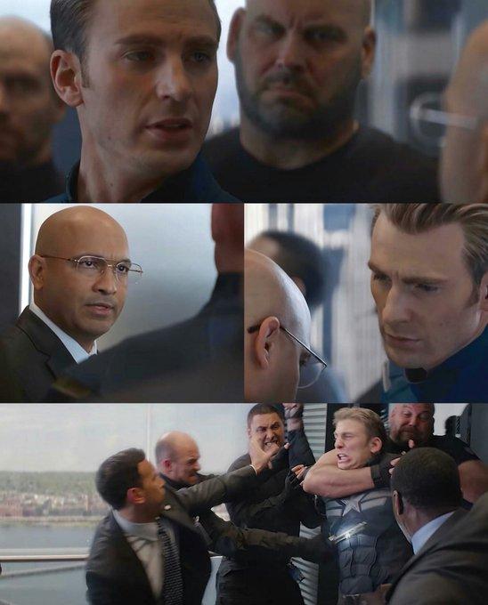 Captain America Elevator Fight meme Template