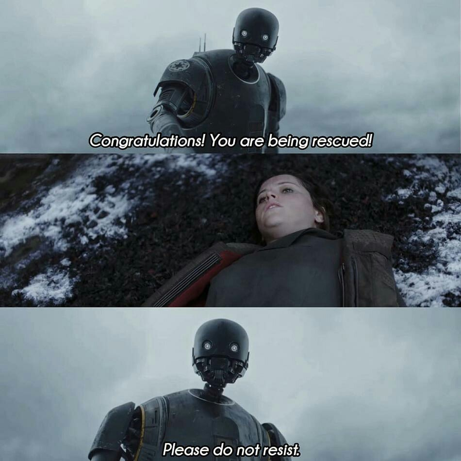 Congratulations! You Are Being Rescued star wars meme template
