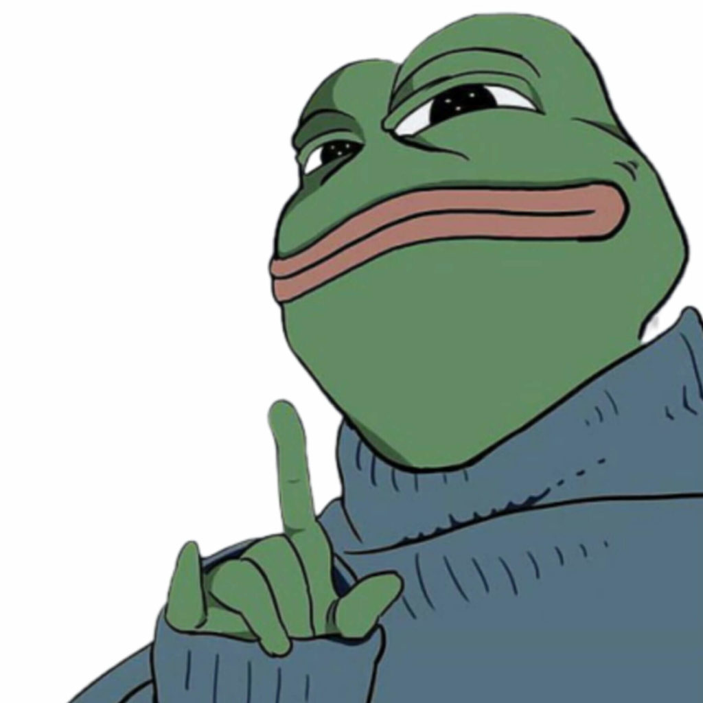 Cool Pepe the Frog meme template