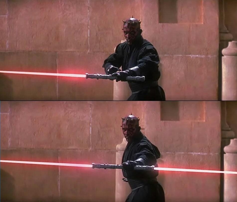 Double-sided Lightsaber Darth Maul Star Wars Episode I The Phantom Menace meme template