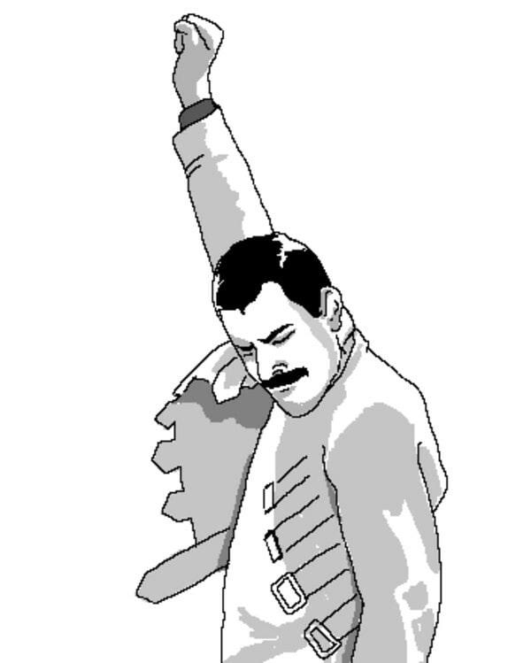 Freddie Mercury rage comic face meme template