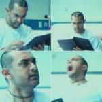 Ghajini aamir khan screaming in hospital bed scene meme