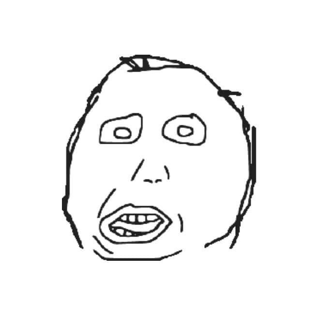 Herp Derp rage comic meme face templates