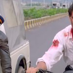 Hrithik Roshan in bike being chased by a police car meme