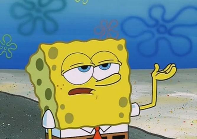 Tough Spongebob I Only Cried For 20 Minutes meme template