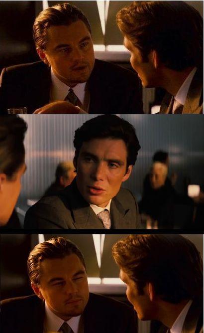 Inception Leonardo DiCaprio Cillian Murphy Meme Template