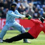 Jason Roy Takes Down The Umpire by Mistake in england icc cricket world cup 2019