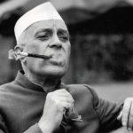 Jawaharlal Nehru smoking a cigar