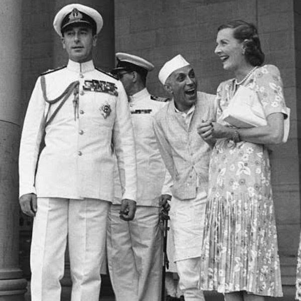 Jawaharlal Nehru with Edwina Mountbatten