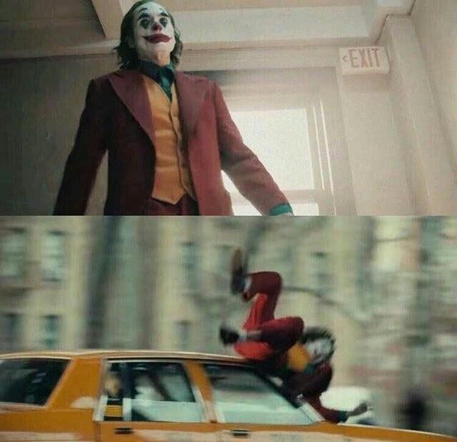 Joker Hit By Car meme template