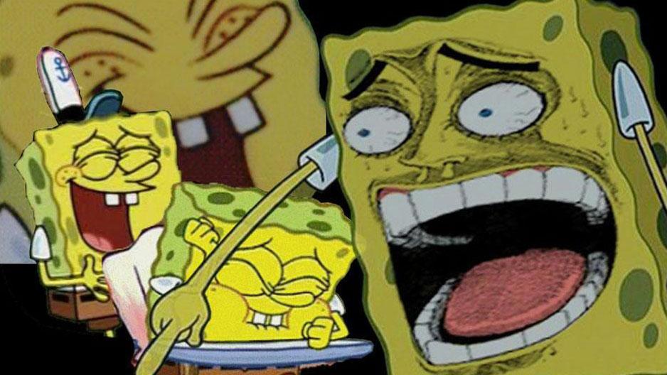 Laughing SpongeBob meme template