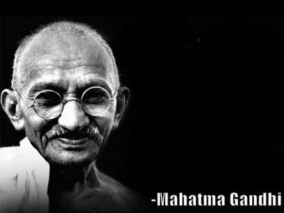 Mahatma Gandhi Says blank meme template