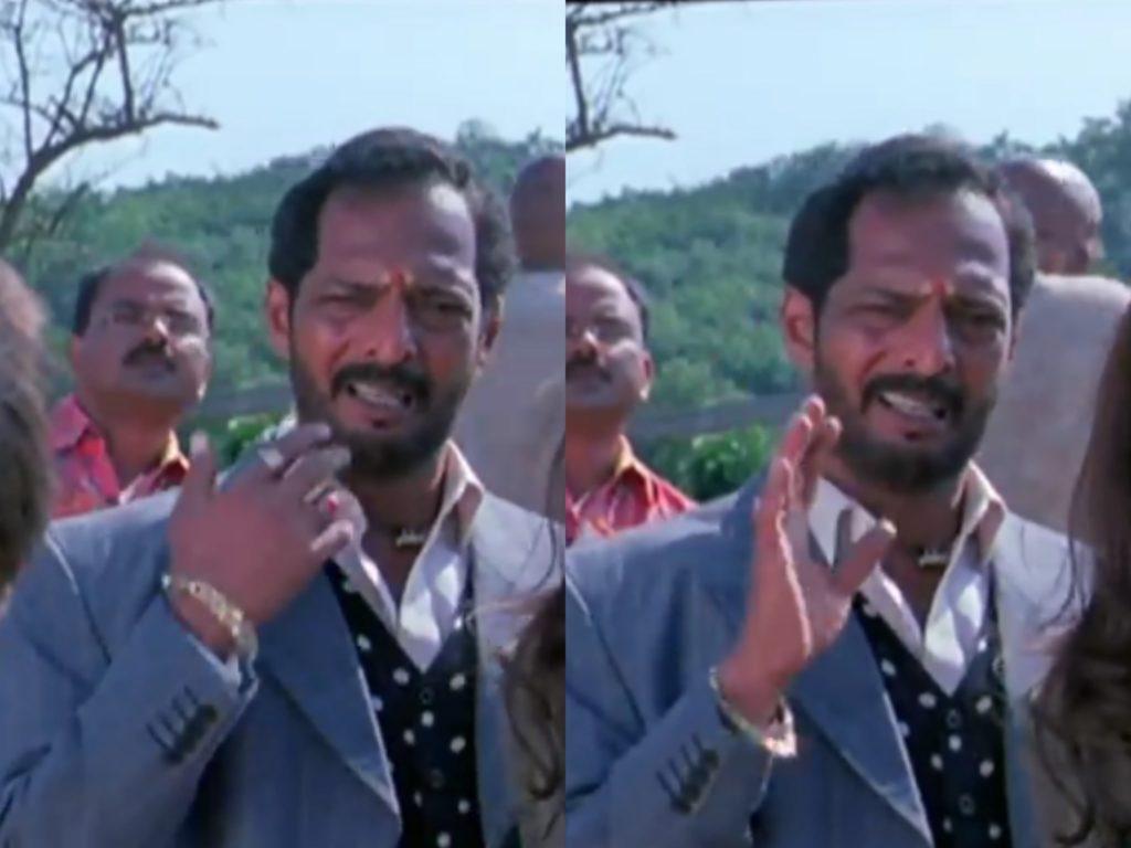 Nana Patekar as Uday Shetty in welcome movie ignoring meme