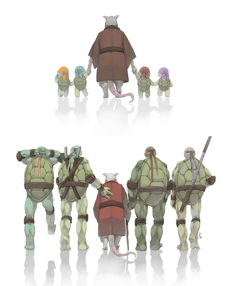 Ninja Turtles and Splinter blank meme template