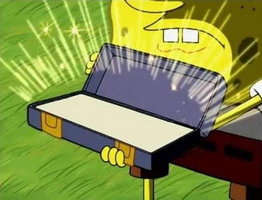 Ol' Reliable spongebob opening imaginary box blank meme template