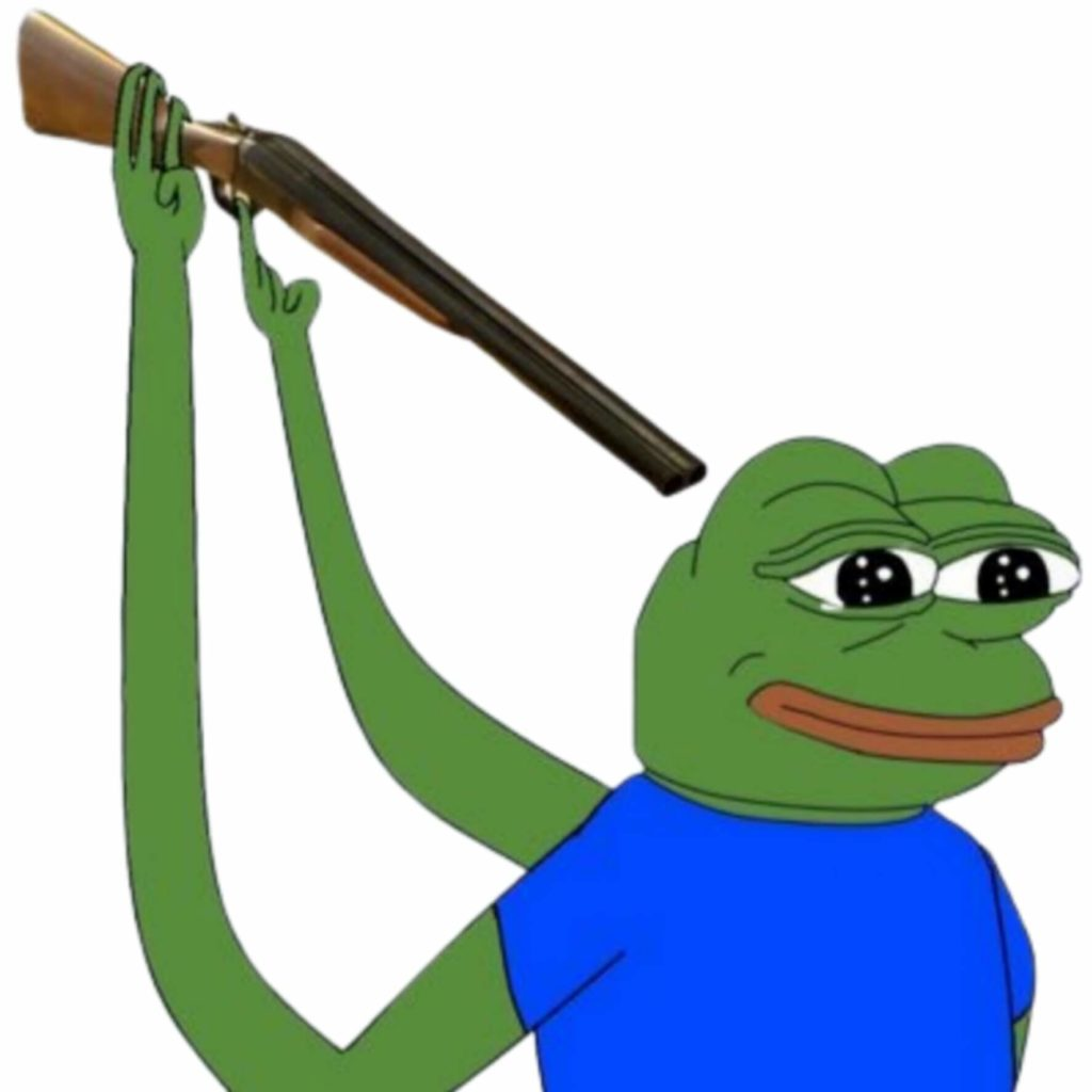 Pepe the frog shooting himself meme template