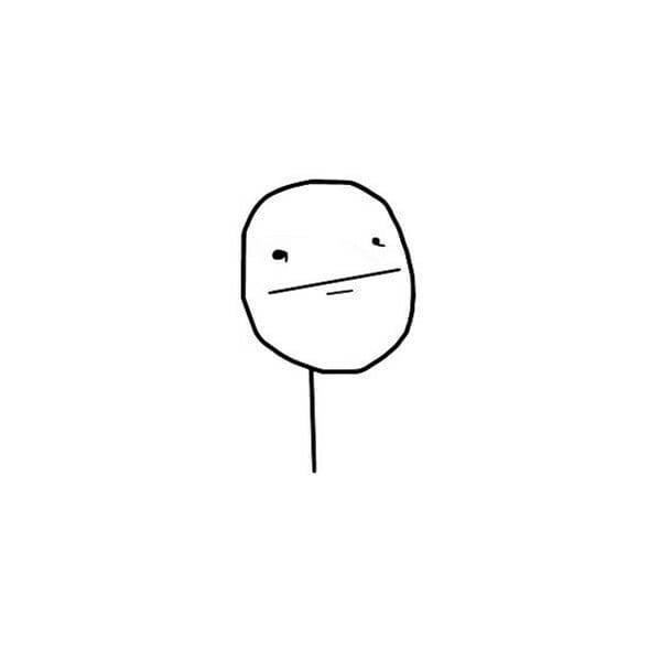 Poker Face blank reaction guy comic meme template