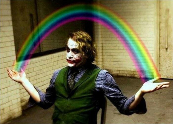 Rainbow Joker meme template