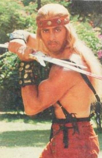Salman Khan in Suryavanshi movie holding a sword funny thor look-alike meme