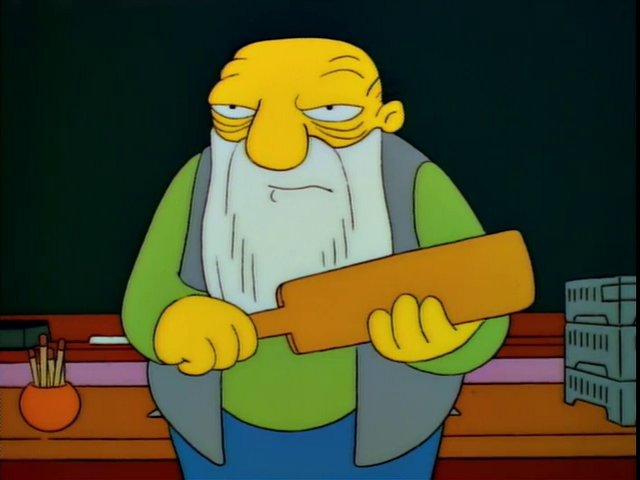 Simpsons' Jasper That's a Paddlin