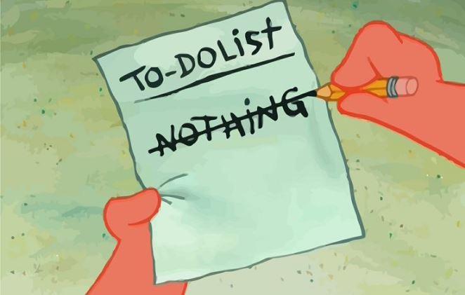 Spongebob Squarepants to do list meme template