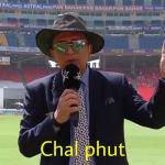 chal phut Sunil Gavaskar meme template