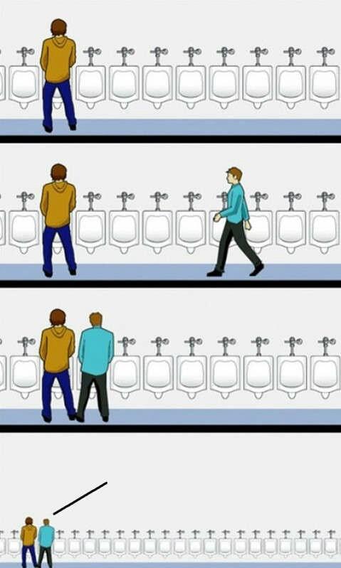 Urinal Etiquette blank meme template