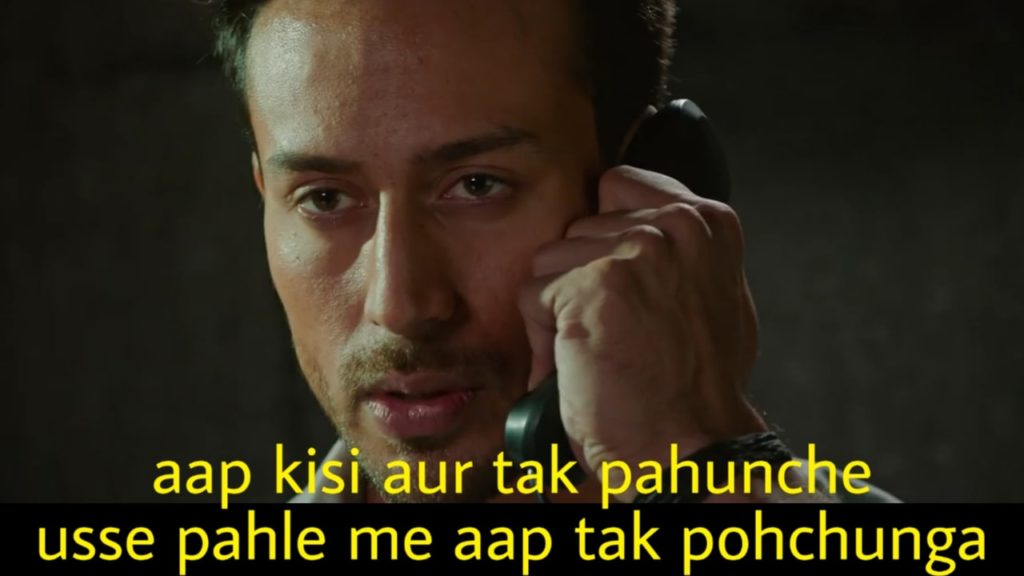 aap kisi aur tak pahunche usse pahle me aap tak pohchunga Tiger Shroff dialogue from the war movie