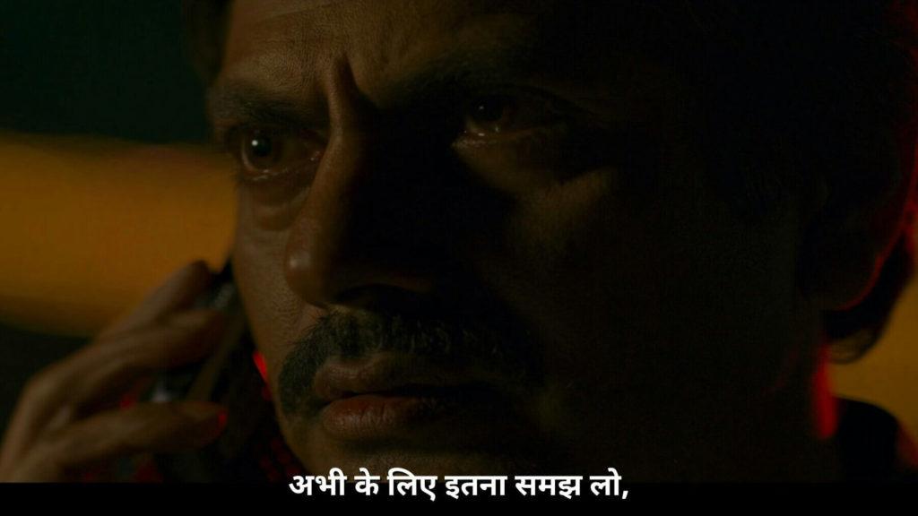 Nawazuddin Siddiqui as Ganesh Gaitonde in Sacred Games Season 2 dialogue and meme template abhi ke liye itna samajh lo