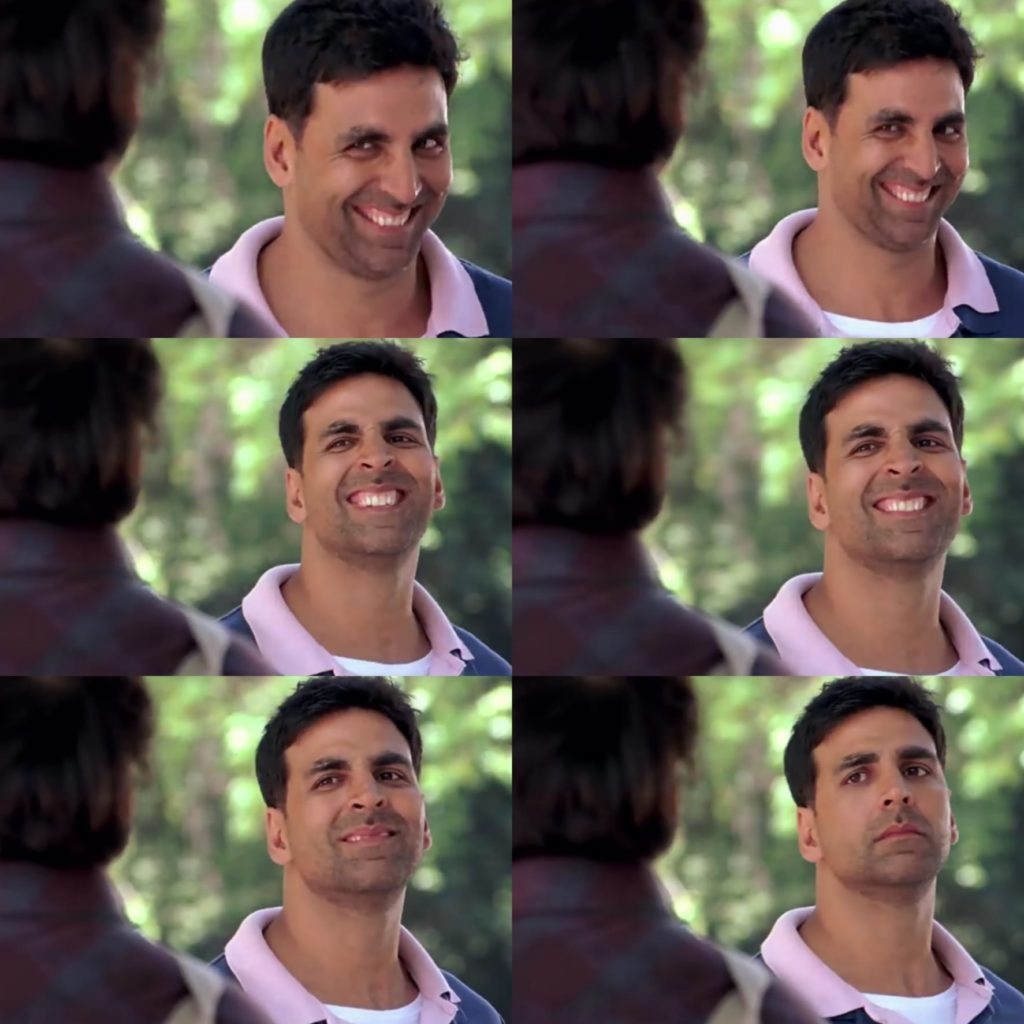 akshay kumar as bunty funny facial expression in the movie Bhagam Bhag