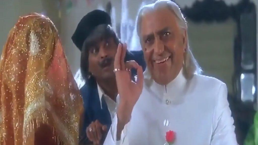 amrish puri showing good nice hand gesture in koyla movie meme