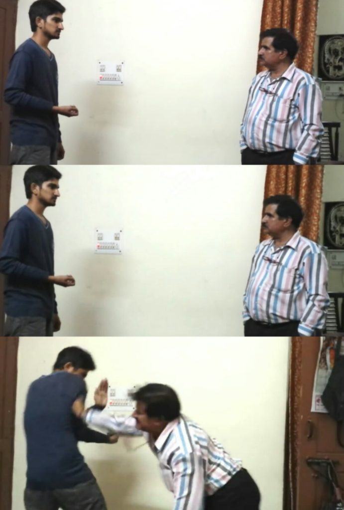 Father Beating Son in a funny indian prank viral youtube video meme template