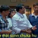 arey mai sunn chuka hu yaar Paresh rawal in bhagam bhag meme template