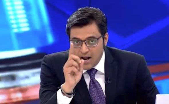 Arnab Goswami in a debate shouting meme