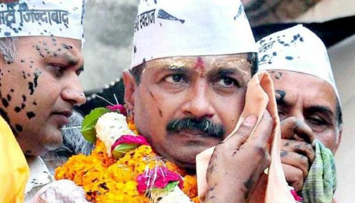 arvind kejriwal after ink thrown on his face